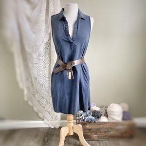 CLOTH & STONE | Anthropologie Blue Shirt Dress